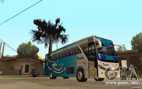 Hino New Travego V.Damri para GTA San Andreas vista hacia atrás