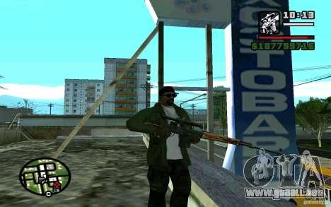 Dragunov sniper rifle v 1.0 para GTA San Andreas segunda pantalla