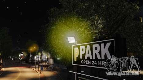 Luz luces amarillas para GTA 4 quinta pantalla
