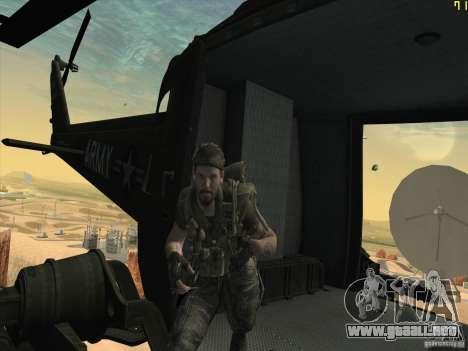 Helicóptero Huey de call of duty ops negro para vista lateral GTA San Andreas