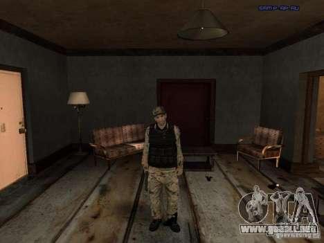 Army Soldier Skin para GTA San Andreas tercera pantalla