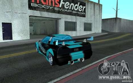 Baby blue Infernus para GTA San Andreas left