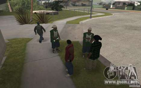 Grove Street Skin Pack para GTA San Andreas sexta pantalla