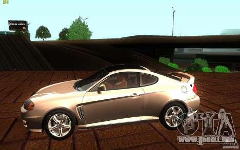 Hyundai Tiburon V6 Coupe 2003 para GTA San Andreas left