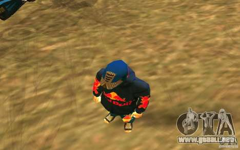 Red Bull Clothes v1.0 para GTA San Andreas tercera pantalla