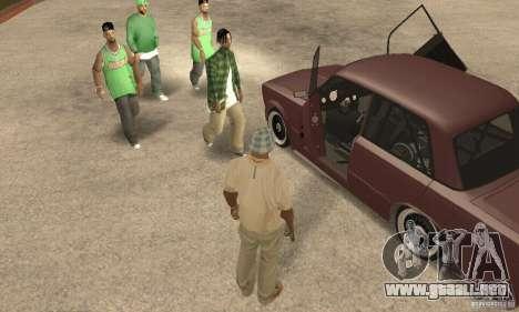 2106 VAZ Street Style para GTA San Andreas vista hacia atrás