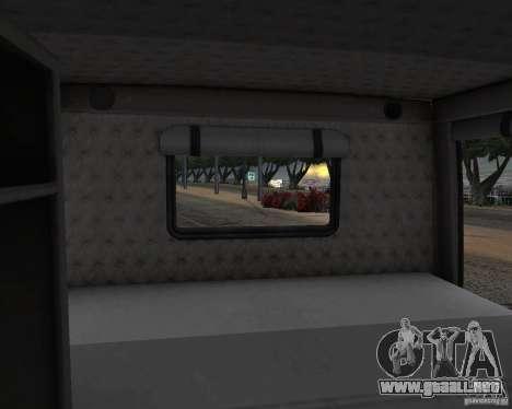Western Star 4900 EX para visión interna GTA San Andreas