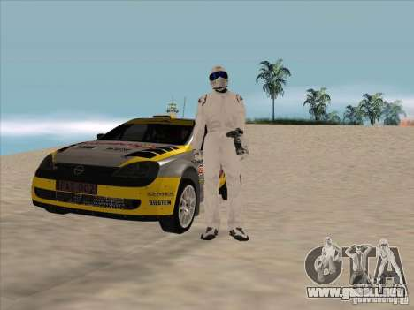 Opel Rally Car para GTA San Andreas vista hacia atrás