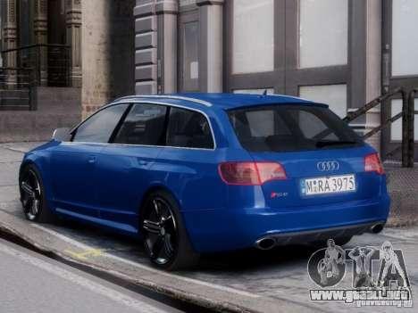 Audi RS6 Avant para GTA 4 left