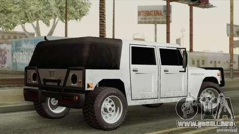 New Patriot HQ para GTA San Andreas vista posterior izquierda
