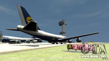 Lufthansa Airplanes para GTA 4 Vista posterior izquierda