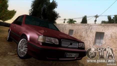 Volvo 850 Final Version para visión interna GTA San Andreas