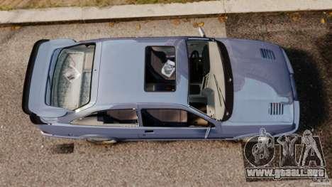 Ford Sierra RS500 Cosworth 1987 para GTA 4 visión correcta