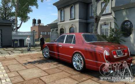 Bentley Arnage T para GTA 4 Vista posterior izquierda