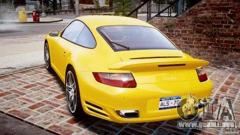 Porsche 911 (997) Turbo v1.0 para GTA 4 Vista posterior izquierda
