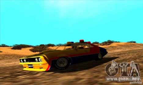 Ford Falcon 351 GT Interceptor Mad Max para la visión correcta GTA San Andreas