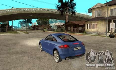 Audi TT 2007 para la visión correcta GTA San Andreas