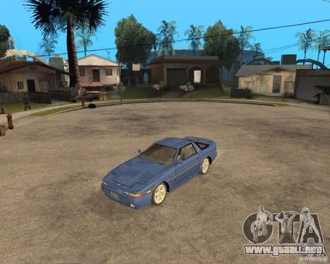 Toyota Supra MK3 para GTA San Andreas vista posterior izquierda