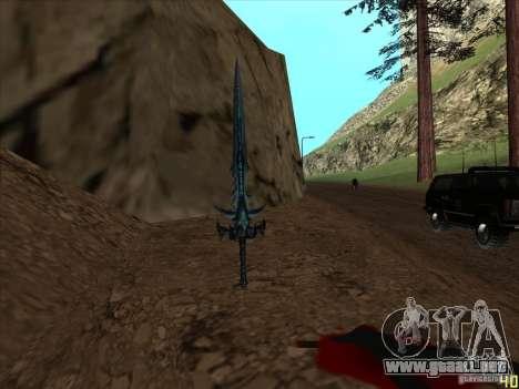Frostmorn-espada de WoW Lich King para GTA San Andreas tercera pantalla