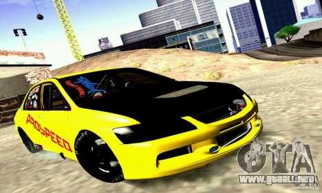 Mitsubishi Lancer Evolution VIII - ProSpeed para GTA San Andreas