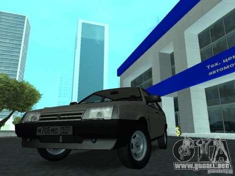 VAZ 2109 CR v. 2 para la visión correcta GTA San Andreas