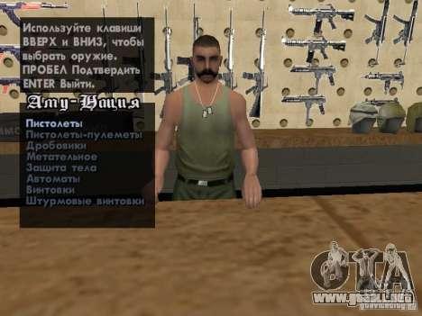 Russian Ammu-nation para GTA San Andreas séptima pantalla