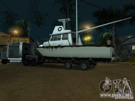 Remolque de barcos para GTA San Andreas vista posterior izquierda