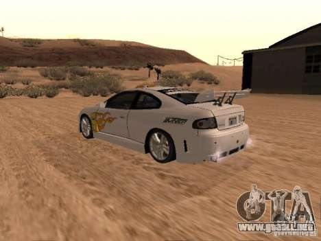 Vauxhall Monaro para el motor de GTA San Andreas