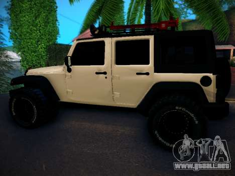 Jeep Wrangler 4x4 para GTA San Andreas left
