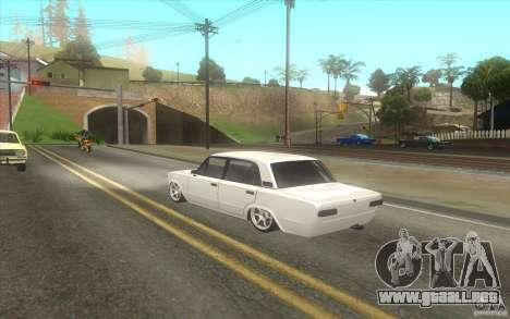 VAZ 2101 coche Tuning para GTA San Andreas vista posterior izquierda