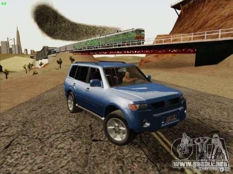 Mitsubishi Montero para GTA San Andreas vista hacia atrás