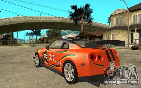 Nissan GT R Shift 2 Edition para la visión correcta GTA San Andreas