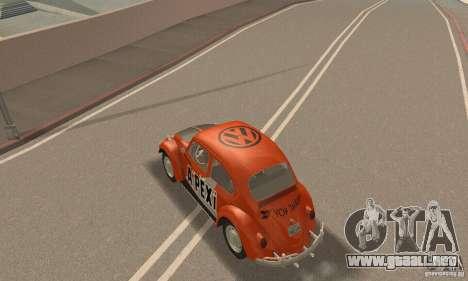 Volkswagen Beetle 1963 para el motor de GTA San Andreas