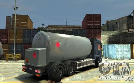 Mercedes Benz Actros Gas Tanker para GTA 4 visión correcta