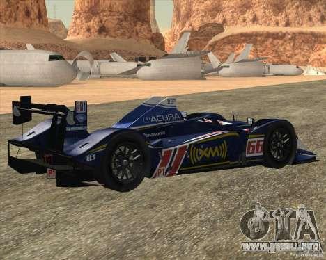 Acura ARX LMP1 para GTA San Andreas vista posterior izquierda