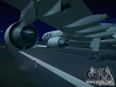 Airbus A340-600 LAN Airlines para la visión correcta GTA San Andreas