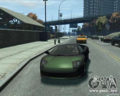 Lamborghini Murcielago LP640 2007 para GTA 4 vista hacia atrás