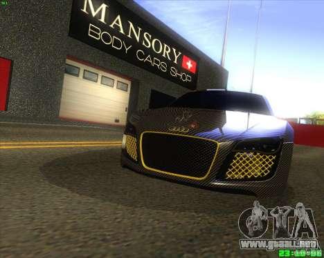 Audi R8 Mansory para GTA San Andreas left