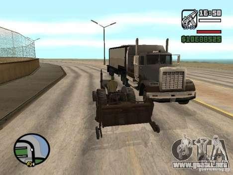 Vehículos con remolques para GTA San Andreas quinta pantalla