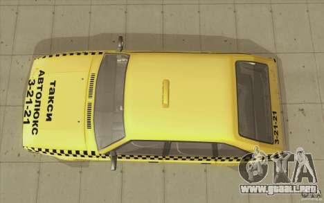AZLK Moskvich 2141 Taxi v2 para la visión correcta GTA San Andreas
