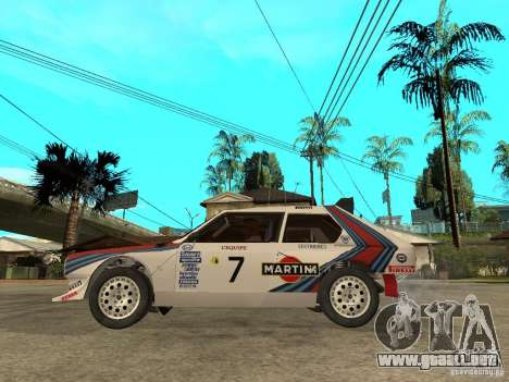 Lancia Delta S4 Martini Racing para GTA San Andreas left