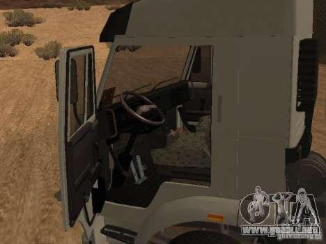 KAMAZ 6460 para visión interna GTA San Andreas