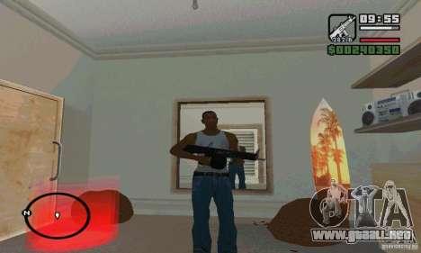 La escopeta AA-12 para GTA San Andreas sucesivamente de pantalla