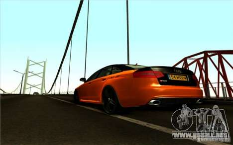 Audi RS6 Black Edition para GTA San Andreas vista posterior izquierda