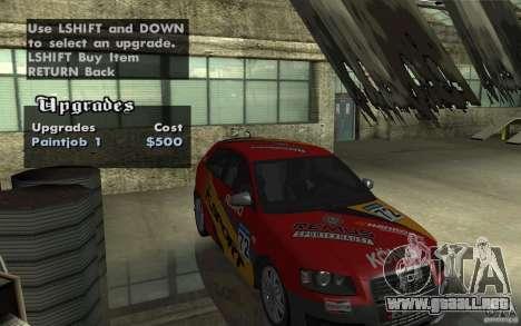 Audi S3 Tunable para visión interna GTA San Andreas