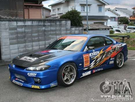Nissan Silvia INGs +1 para visión interna GTA San Andreas
