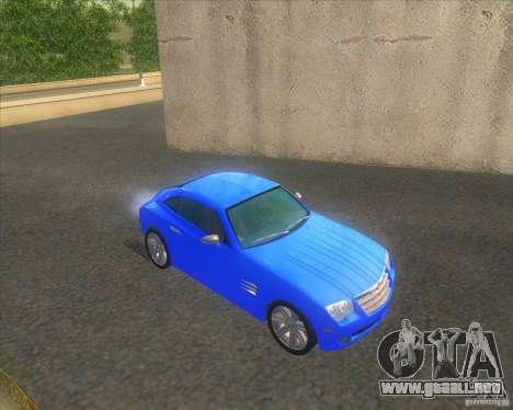 Chrysler Crossfire para la visión correcta GTA San Andreas