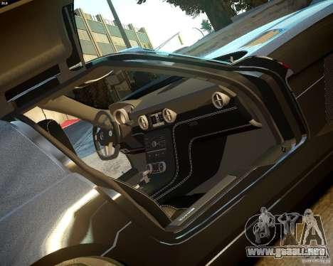 Mercedes SLS Extreme para GTA 4 vista hacia atrás