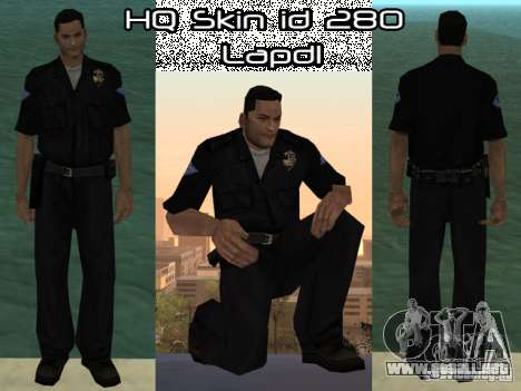 HQ skin lapd1 para GTA San Andreas
