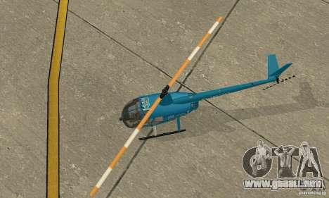 Robinson R44 Raven II NC 1.0 TV para GTA San Andreas vista hacia atrás